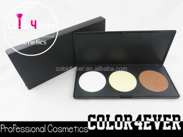 Beauty needs Pro 3 Colors Makeup foundation Palettes blush private label cosmetics