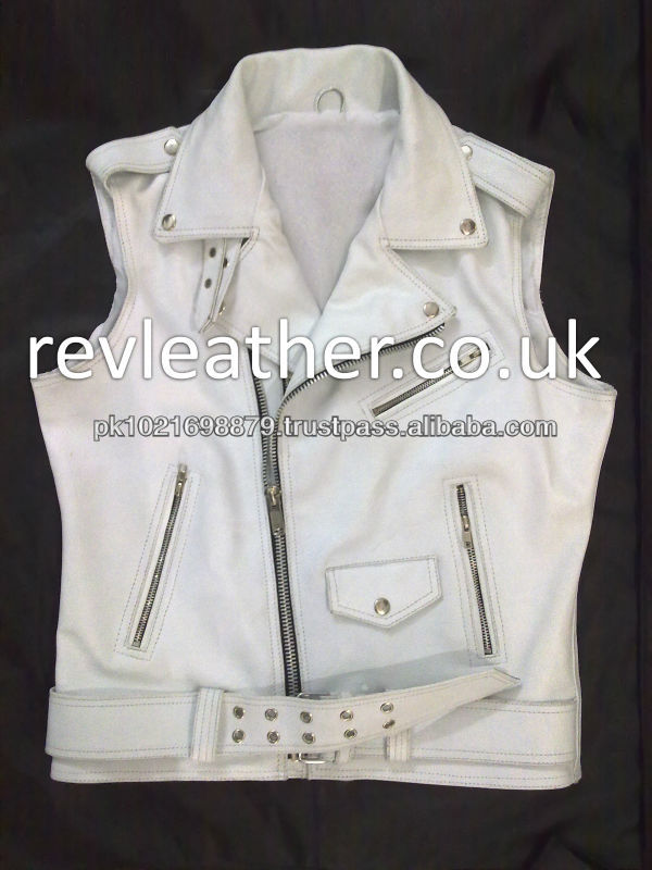 100% real leather brando vest
