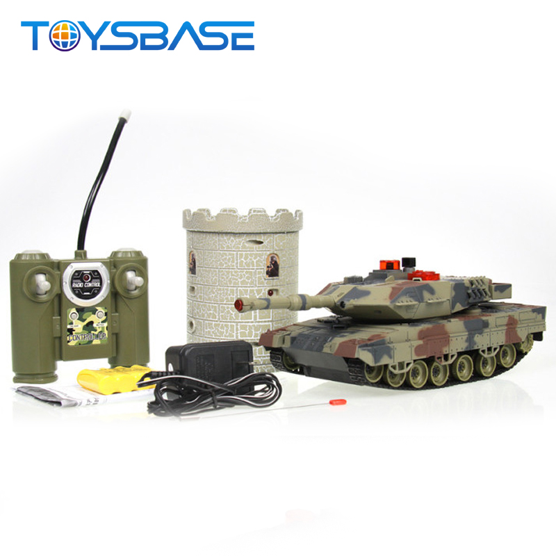 New 2.4G Remote Control Model Tanks Rotate Fighting Tank Toy Scene Simulation Battle Tank