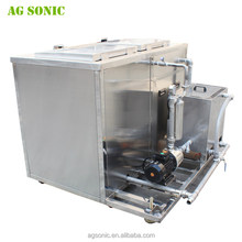 Ultrasonic cleaner for filter, polymer pumps, extruders and pumps cleaning