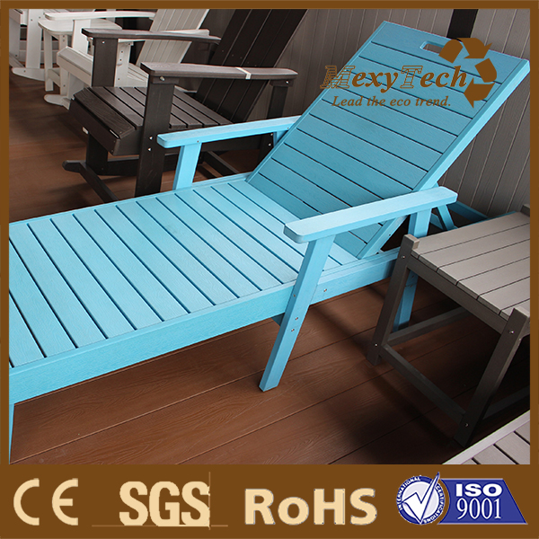 Foshan poly styrene swimming pool ps wooden deck chair