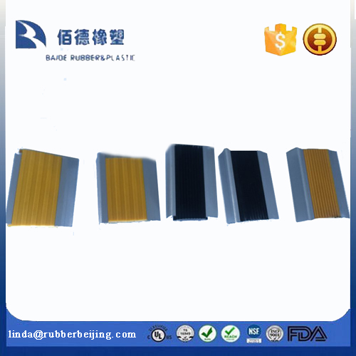 Stair Parts Type and Aluminum Stair Part Material non slip aluminium stair nosing for concrete finish stair