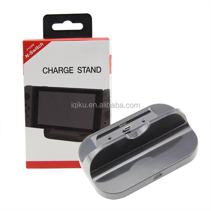 Best Selling Products Charging Dock Station Charge Cradle Stand for Nintendo Switch Game Console Black