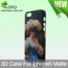 China made customizable sublimation 3D phone case for iphone 5/5S