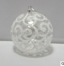 Wholesale white snow ball christmas ornaments/Hanhing christmas tree ornaments plastic ornaments