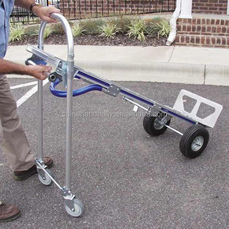 2 en 1 plegable de aluminio convertible carretilla de mano - Carretilla de mano plegable ...