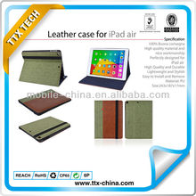 2013 hot sale stand leather case for ipad air