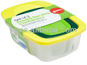 3 in 1 Rectangular Plastic Container