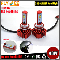 2016 Auto Light Car Accessories F6 Modle 30W 40W 3600 LM LED Headlight Kit, H4 H7 H11 9004 9007 LED car lamp, CREES LED Bulb