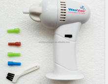 Safe And Convenient Electronic Plastic White Waxvac Ear Cleaner