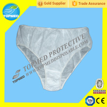 Disposable white underwear,sexy brief,disposable short pants with CE,ISO13485 certificate