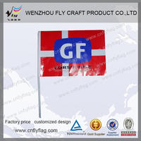 custom logo paper flag with stick