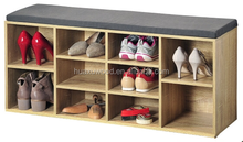 Hot sale shoe storage bench with seat 10 pairs organizer