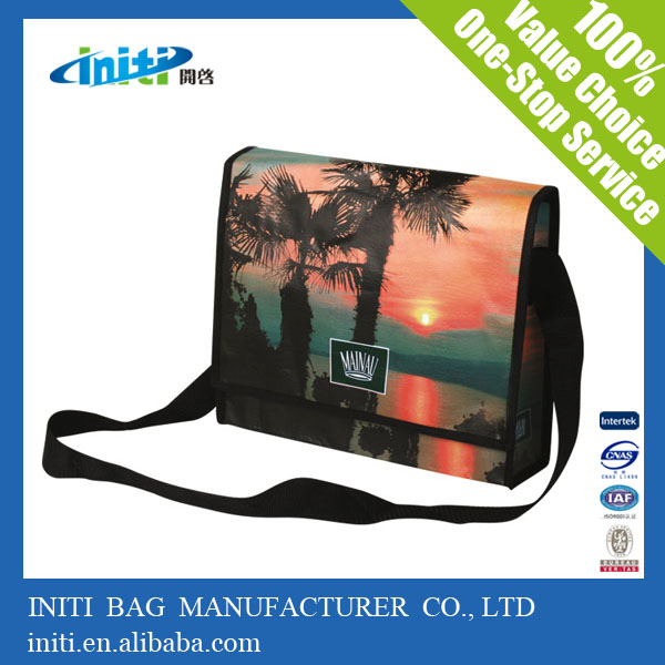 Alibaba wholesale Laminated eco bag tablet shoulder bag