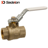 Factory Direct Lockable Brass Ball Valve for home usage