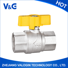 "1/4"" Durable professional competitive price brass gas valve butterfly hand(1/4"" valve)"