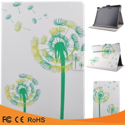 China suppliers colorful drawing pattern kickstand flip PU leather protective case for ipad 5