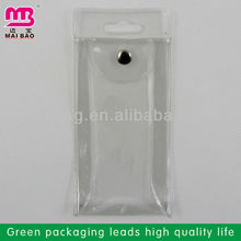 Professional and experienced factory cheap small size clear pvc plastic bag with snap button