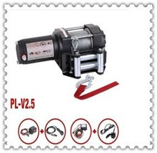 from ningbo china Electric mini Winch 3000lbs with synthetic rope