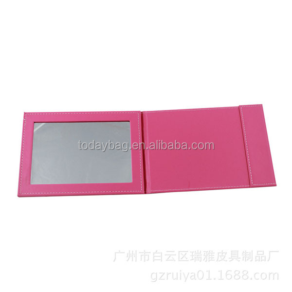 table top vanity mirrors with pu and glass material