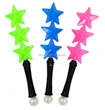 Wholesale Flashing Light up five-pointed star Glow Stick LED Rave Baton Party Favor Wand