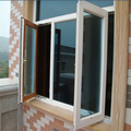 Double glazed tempered glass window with glass window shutters