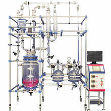 1-200L bioreactor jacketed glass reactor factory sales lab use jacketed glass reactor - economical choice