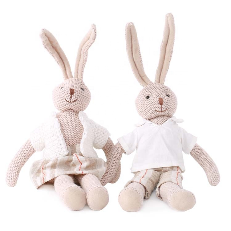 High quality custom new arrival Organic cotton Long ear plush toys <strong>Rabbit</strong> 40cm