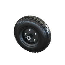 China manufacturer sturdy solid pu wheel for wheelbarrow