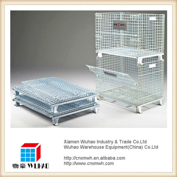 Collapsible wire mesh crate