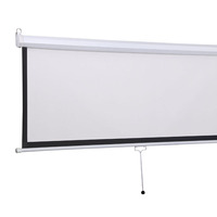 India roll up wall mount projection screen