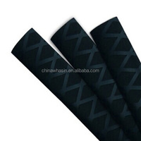 Diameter 35mm black color non-slip heat shirnk tube for sports equipment/paddle handles/hand tools/grips/fishing rod