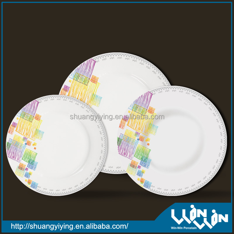 porcelain dinner plate in color design