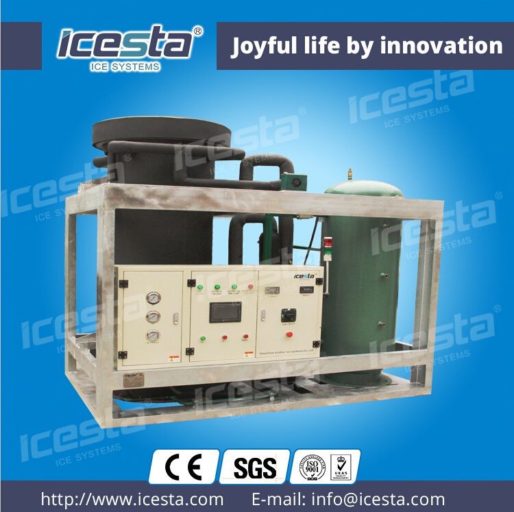 ICESTA heavy-duty tube ice machine automatic industrial ice maker 10t/24hrs
