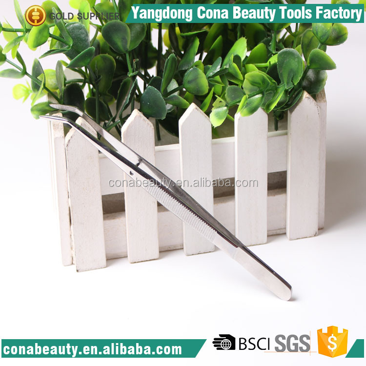 professional stainless steel long handle diagonal tweezer