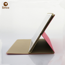 Flip style folding stand PU leather protective tablet hard pc case covers 9.7 inch