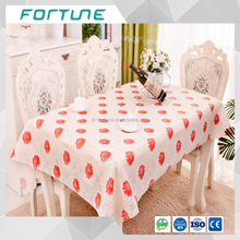 a beautiful plastic table cloth printed PVC film in roll form