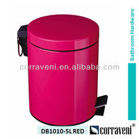 economic price colorful garbage can DB1010-5L red
