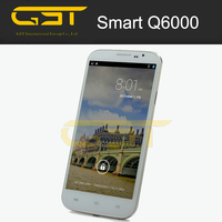 Lowest price Q6000 Smartphone Android 4.2 MTK6589 Quad Core 3G GPS WiFi 6.0 Inch - Black