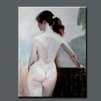 handpainted open hot sexy girl photo, classical sexy Chinese girl painting on canvas