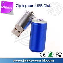 Good quality plastic can USB flash driver with LCD light