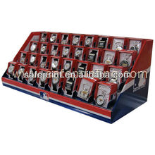 corrugated box packed watches counter display desktop steps exhibitor pdq bracelet cardboard display stand