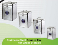 stainless steel bulk food storage container