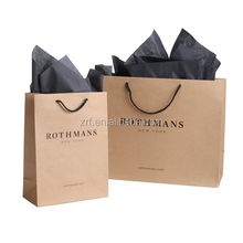 Custom recyclable brown paper bag cheap brown kraft paper bag