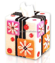 DIY goods,3D Cross stitch Embroidery.beautiful.Tissue Box-01