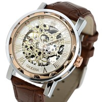 2015 New Stainless Steel Watch Men,Automatic Mechanical Skeleton Watch WM342
