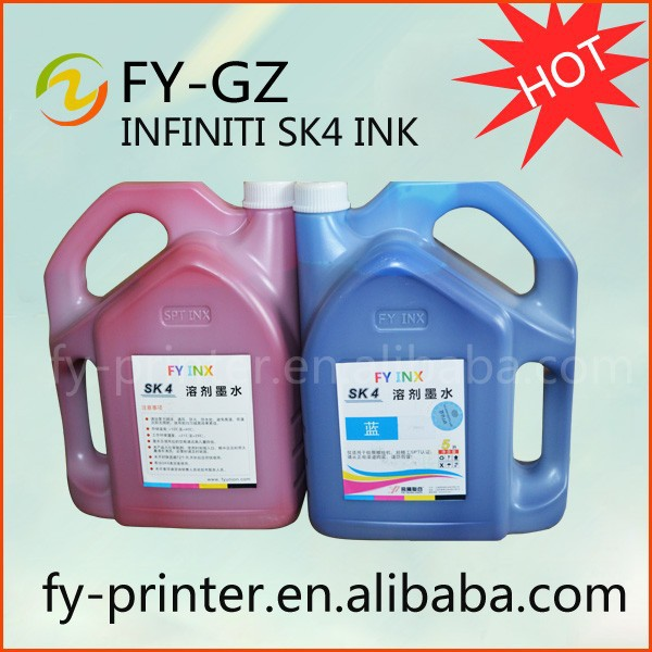 Packing 5L/bottle solvent based SK4 Infinity FY INX new pack CMYK digital inkjet printer ink
