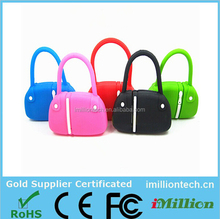 pvc customizeable tote bag shape usb flash drive for promotional gifts