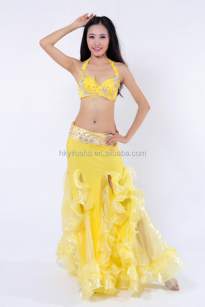 Sexy yellow belly dance wear for women AS6054-AQ6054-Q5021