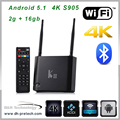 Hot-selling 2GB 16GB amlogic s905 smart android tv box make your tv smart